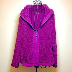 Fila Sport Sherpa Purple Fuchsia Jacket XL